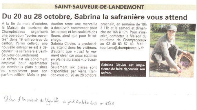 Sabrina la safranière vous attend