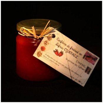 Confiture extra de fraises au Safran Cynfael
