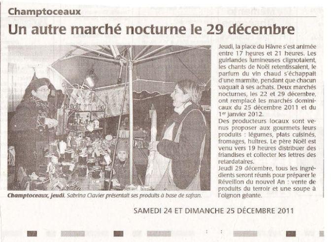 Un autre marché nocturne le 29 décembre