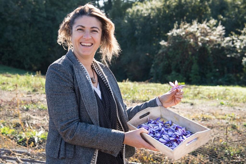 l'entreprise : Gérante de l'entreprise Cynfael le prince du safran - Sabrina Clavier