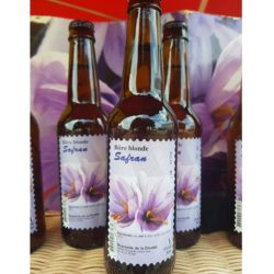 Bière blonde au safran
