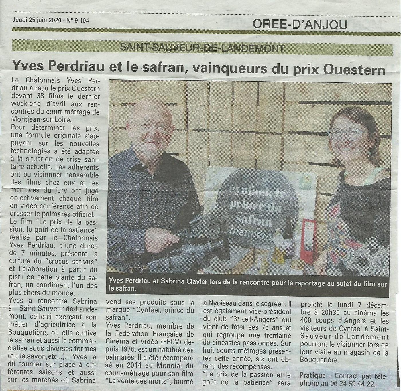 Yves Perdriau et le safran, vainqueurs du prix Ouestern