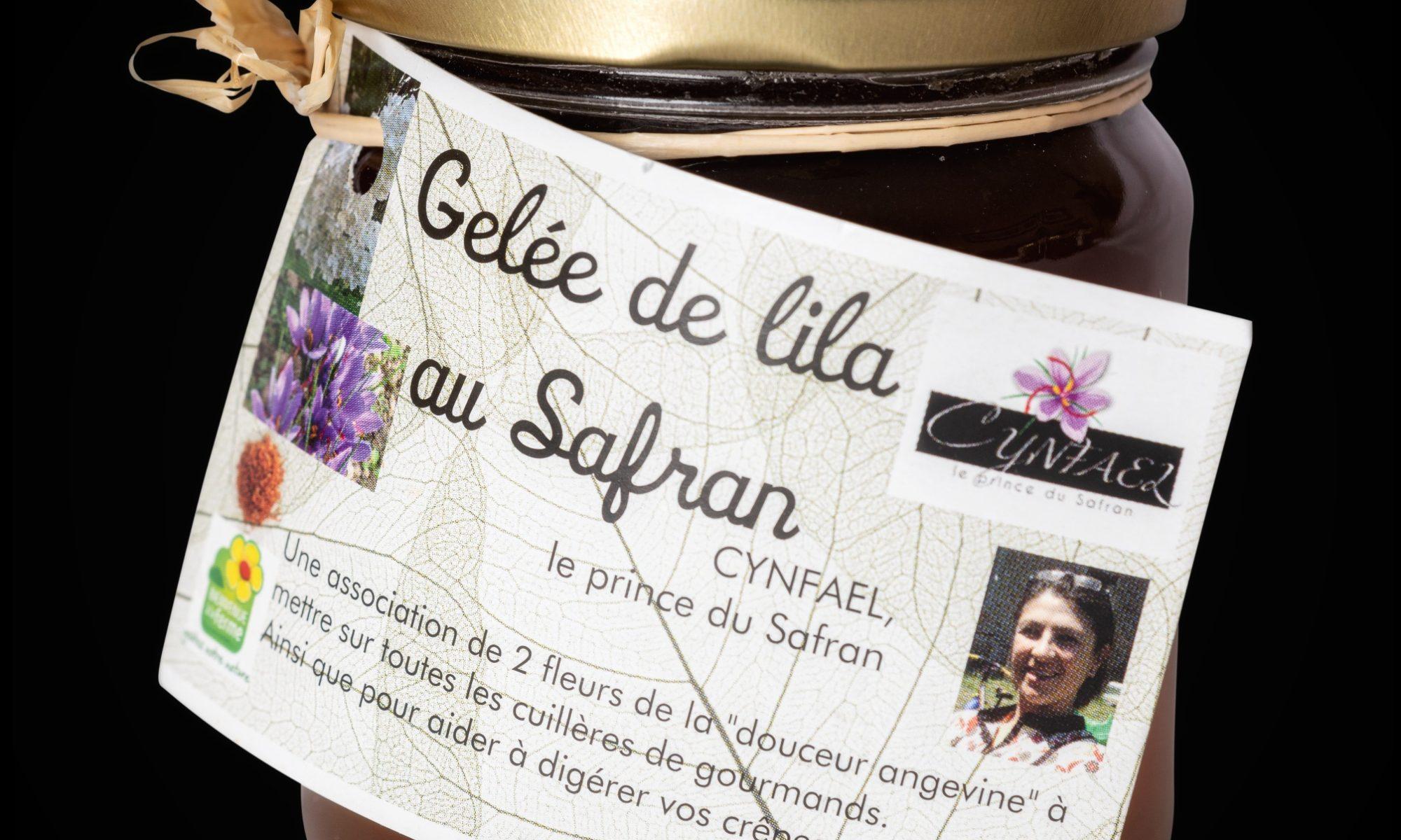 Gelée de lila au safran