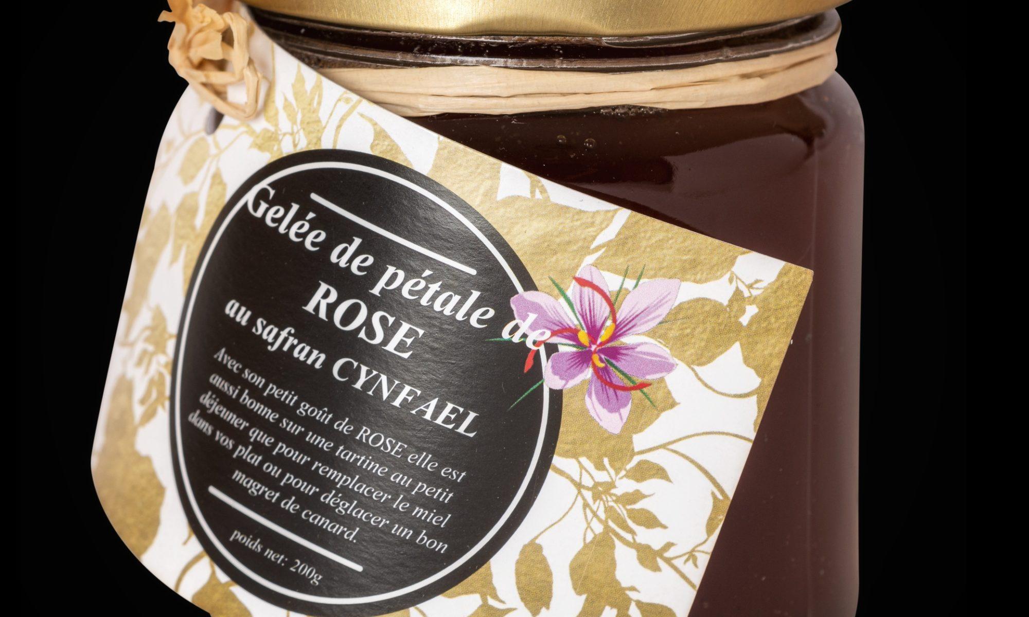 Gelée de pétales de rose au safran